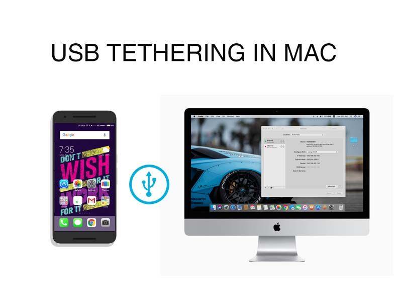 USB tethering on mac