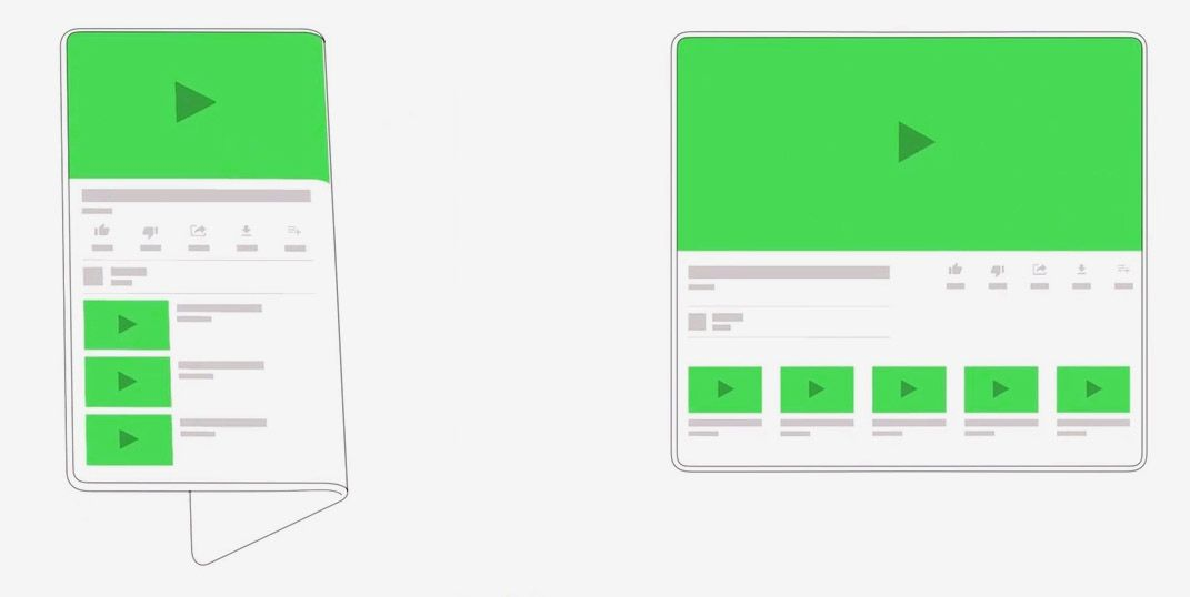 Samsung's foldable smartphone android support